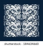 white lace background.  | Shutterstock .eps vector #184634660