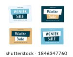 winter sale label template with ... | Shutterstock .eps vector #1846347760