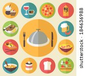 icons set for cooking ... | Shutterstock .eps vector #184636988