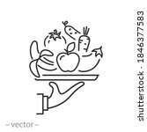 vegan healthy food icon  fresh...   Shutterstock .eps vector #1846377583