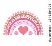 cute vector rainbow. cartoon...   Shutterstock .eps vector #1846384303