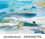 Blue And Grey Abstract Art...