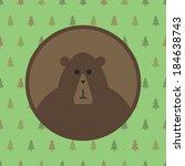 bear icon. flat design. animal... | Shutterstock .eps vector #184638743