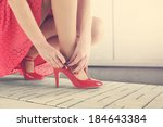 red skirt  | Shutterstock . vector #184643384