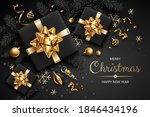 horizontal banner with gold... | Shutterstock .eps vector #1846434196
