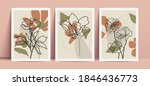 abstract poster design. floral... | Shutterstock .eps vector #1846436773