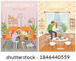 happy family  parents and... | Shutterstock .eps vector #1846440559
