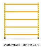 metal yellow standing rack....   Shutterstock .eps vector #1846452373