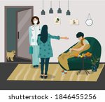 calling a family doctor at home ...   Shutterstock .eps vector #1846455256