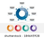 colorful seven sided puzzle... | Shutterstock .eps vector #184645928