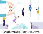 business crisis risk  hand... | Shutterstock .eps vector #1846462996