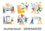 lottery winner people vector... | Shutterstock .eps vector #1846466050