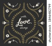 """with love  always"" slogan for... 