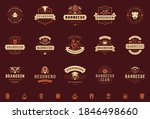 grill and barbecue logos set... | Shutterstock .eps vector #1846498660