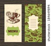 tea vintage banners. hand drawn ...   Shutterstock .eps vector #184649894