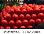 Rows Of Red Tomatoes In A...