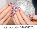 female hands with beautiful...   Shutterstock . vector #184650098