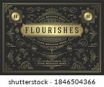vintage ornaments swirls and... | Shutterstock .eps vector #1846504366