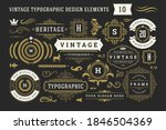 vintage typographic decorative... | Shutterstock .eps vector #1846504369