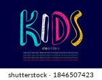 kids doodles style font  four... | Shutterstock .eps vector #1846507423