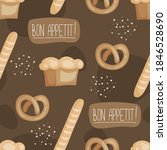 seamless pattern with food ... | Shutterstock .eps vector #1846528690