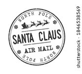 north pole mail santa claus... | Shutterstock .eps vector #1846538569