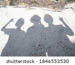 Shadows Of Three Asian Girls...