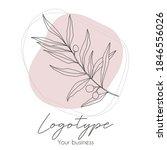 abstract line art floral logo... | Shutterstock .eps vector #1846556026