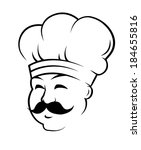cartoon chef in toque for... | Shutterstock .eps vector #184655816