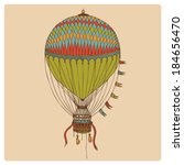 Hand Drawn Retro Air Balloon