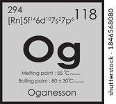 oganesson parodic table element ... | Shutterstock .eps vector #1846568080