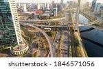 cable stayed bridge or estaiada ...   Shutterstock . vector #1846571056