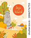 Jeju Island Poster Vector...