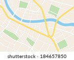 town streets on the plan  ... | Shutterstock .eps vector #184657850