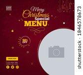 christmas ad banner  restaurant ... | Shutterstock .eps vector #1846578673