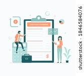 cash flow statement...   Shutterstock .eps vector #1846584076
