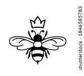 queen bee glyph icon. clipart... | Shutterstock .eps vector #1846585783