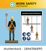 fall protection  construction... | Shutterstock .eps vector #1846586890
