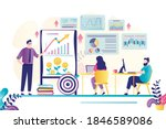 business people at courses for... | Shutterstock .eps vector #1846589086