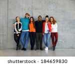 Group Of Stylish Young...