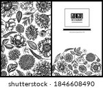 menu cover floral design with...   Shutterstock .eps vector #1846608490