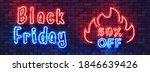 black friday sale neon colorful ... | Shutterstock .eps vector #1846639426