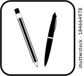 pen and pencil icon | Shutterstock .eps vector #184664978