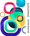 overlapping round squares form... | Shutterstock .eps vector #1846653103