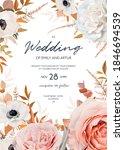 vector watercolor style wedding ... | Shutterstock .eps vector #1846694539