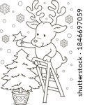 coloring page outline of... | Shutterstock .eps vector #1846697059