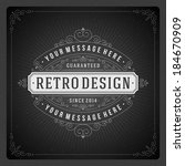 retro chalkboard typographic...   Shutterstock .eps vector #184670909