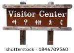 Generic VISITOR CENTER park sign.