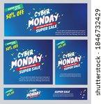 cyber monday sale poster deals... | Shutterstock .eps vector #1846732429