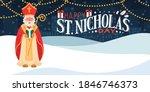 Saint Nicholas Holding Gift. St....